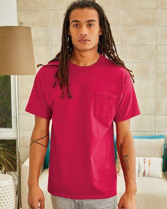 Hanes Authentic Short Sleeve Pocket T-Shirt 5590