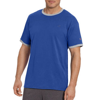 Champion Mens Classic Jersey Ringer Tee Shirt T0220