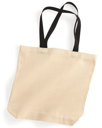 Liberty Bags Natural Tote with Contrast-Color Handles 8868