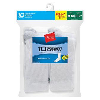 Hanes Boys\' Crew EZ Sort® Socks 10-Pack 421/10