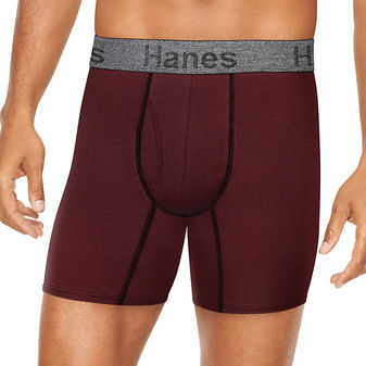 Hanes Men\'s Comfort Flex Fit Ultra Soft Cotton Stretch Boxer Briefs 3-Pack CFFBC3