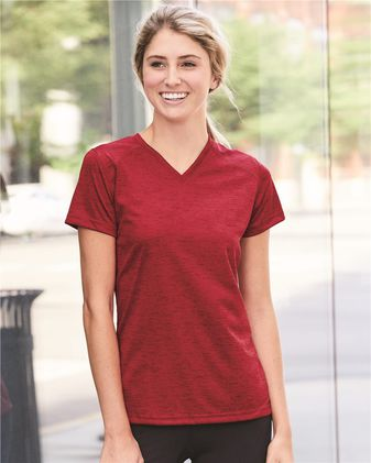 Badger Women\'s Tonal Blend V-Neck T-Shirt 4175