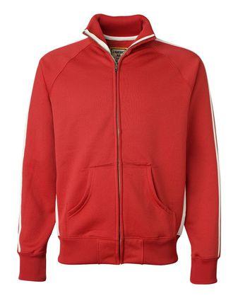 J. America Vintage Polyester Fleece Track Jacket 8858