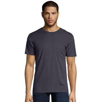 Hanes Men\'s Nano-T Pocket T-Shirt 498P