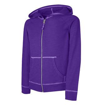 Hanes Girls\' Slub Jersey Full-Zip Hoodie K208