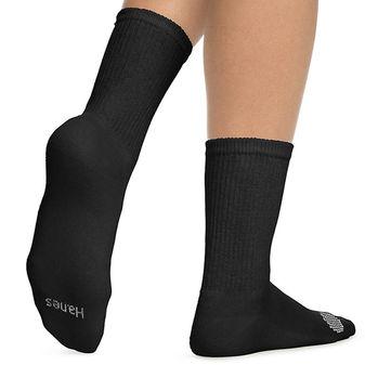 Hanes Women\'s Cool Comfort Crew Socks Extended Sizes 8-12, 6-Pack 683V6P