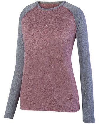 Augusta Sportswear Women\'s Kinergy Two Color Long Sleeve Raglan Tee 2817