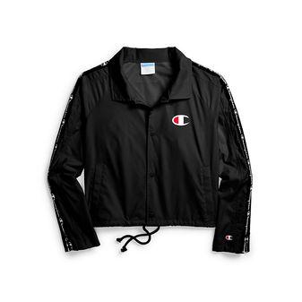 Champion Life Women\'s Zipper Tape Cropped Coaches Jacket JL8501 550034