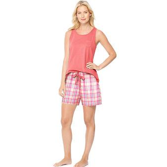 Hanes Ultimate Womens Scoopneck Tank / Shorts Sleep Set 28997