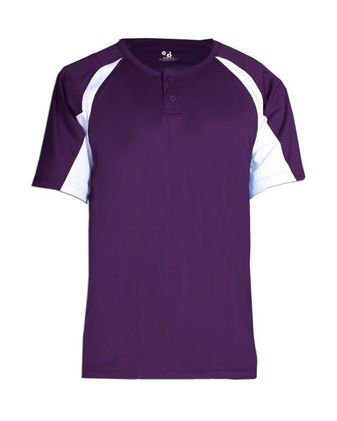 Badger Youth B-Core Hook Placket Jersey 2938