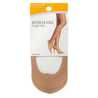 Berkshire Cotton Sole Comfy Liner 2 Pair  5110
