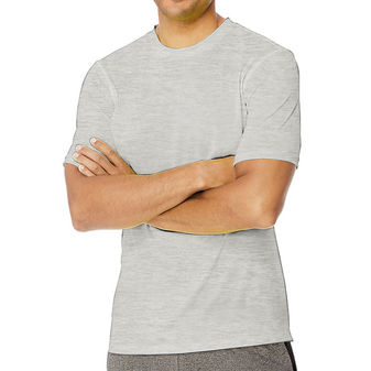 Hanes Sport Men\'s Heathered Training Tee O1459