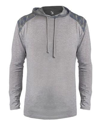 Badger Vintage Flame Triblend Hooded T-Shirt 4973