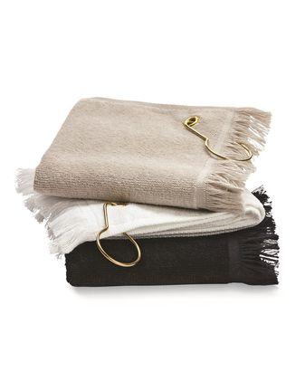 Towels Plus Fingertip Towel with Corner Grommet and Hook T60GH