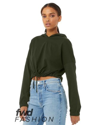 BELLA + CANVAS FWD Fashion Women\'s Cinched Cropped Hoodie 6512