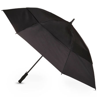 Totes Auto Golf Size Black Vented Canopy Umbrella
