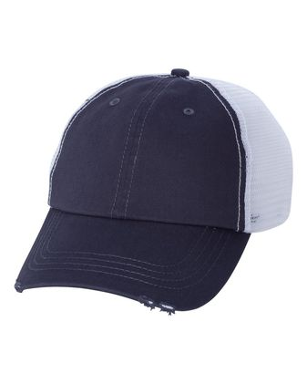 Mega Cap Frayed-Bill Twill Cap 6887