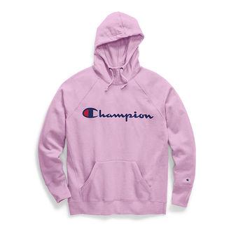Champion Women\'s Powerblend Fleece Pullover Hoodie, Script Logo