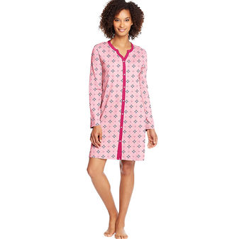 Hanes Women\'s Faux Button Front Sleepshirt HAC80114