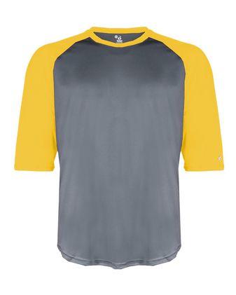 Badger B-Core Three-Quarter Sleeve Baseball T-Shirt 4133