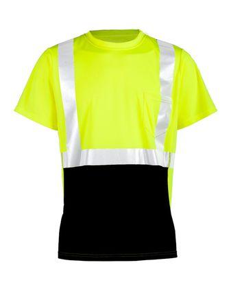 ML Kishigo Black Bottom Class 2 Short Sleeve T-Shirt 9162