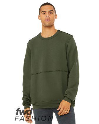 BELLA + CANVAS Fashion Unisex Raw Seam Crewneck Sweatshirt 3743