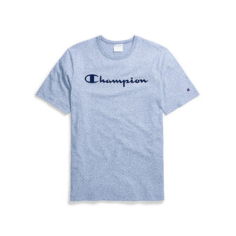 Champion Life Men\'s Mock Twist Tee, Velour Script Logo T5077 550037