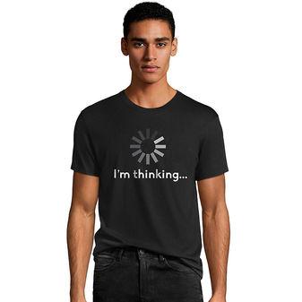 Hanes Men\'s I\'m Thinking Graphic Tee GT49 Y06382