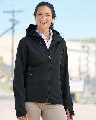 DRI DUCK Women\'s Ascent Hooded Soft Shell Jacket 9411