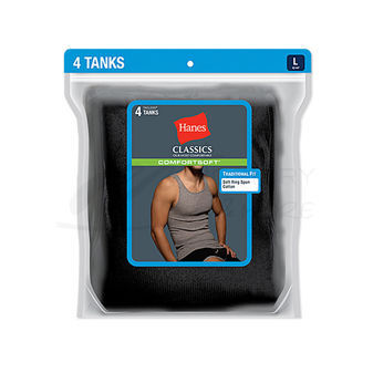 Hanes Classics Mens TAGLESS ComfortSoft Dyed A-Shirt 4-Pk 7993BG