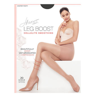 Hanes Silk Reflections Leg Boost Cellulite Smoothing Hosiery BB0001