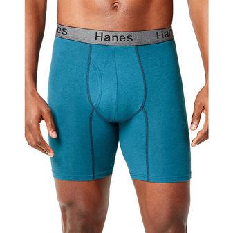 Hanes Men\'s Comfort Flex Fit® Ultra Soft Cotton Stretch Long Leg Boxer Briefs 3-Pack CFFLC3
