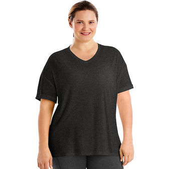 Just My Size Active Mesh Yoke Tee OJ355