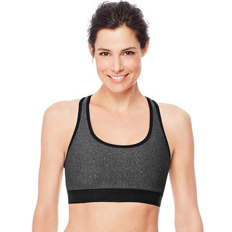 Hanes Sport Women\'s Racerback Compression Sports Bra O9178