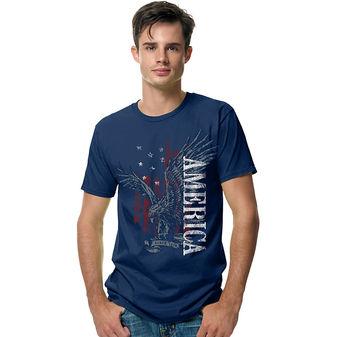 Hanes Mens Eagle America Graphic Tee Shirt GT49C/A3