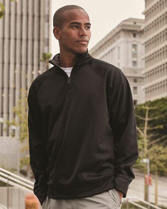 JERZEES Dri-Power® Sport Quarter-Zip Cadet Collar Sweatshirt PF95MR
