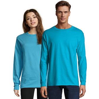 Hanes Adult Beefy-T Long-Sleeve T-Shirt 5186