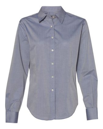 Van Heusen Women\'s Chambray Spread Collar Shirt 13V0466