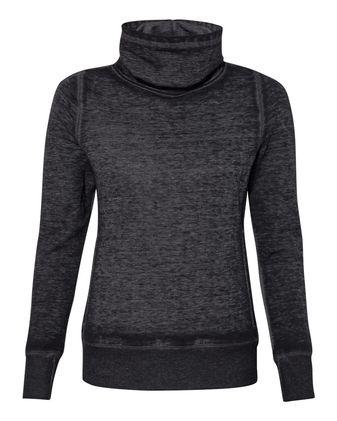 J. America Women\'s Zen Fleece Cowl Neck Sweatshirt 8930