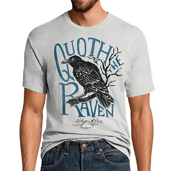 Hanes Men\'s Edgar Allen Poe Graphic Tee GT49 Y07537