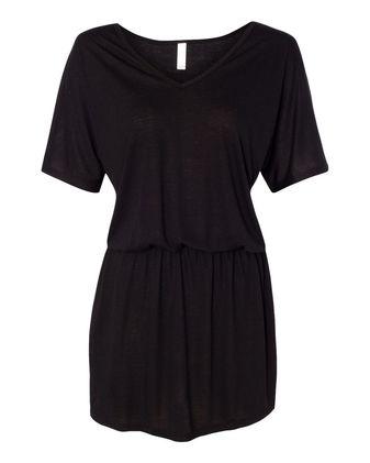BELLA + CANVAS Women\'s Flowy V-neck Dress 8812