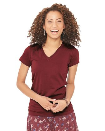LAT Junior Fit V-Neck Fine Jersey Tee 3607