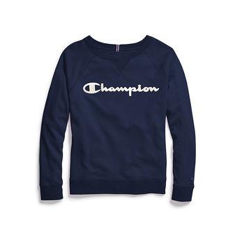 Champion Women\'s Plus Heritage French Terry Crew, Satin Stitch Logo QW4925 550345