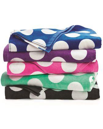 Carmel Towel Company Polka Dot Velour Beach Towel C3060P