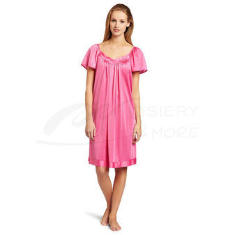 Vanity Fair Women\'s Coloratura Sleepwear Short Flutter Sleeve Gown 30109