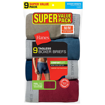 Hanes Men\'s Boxer Brief Super Value 9-Pack 7349P9