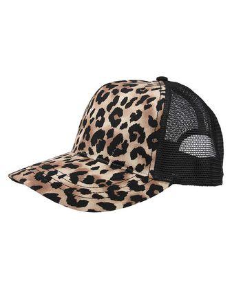 Mega Cap Leopard Fashion Trucker Cap 6885