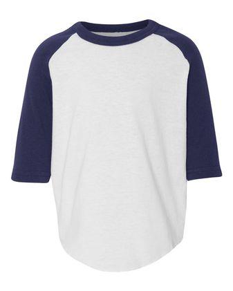 Augusta Sportswear Toddler Three-Quarter Sleeve Baseball Jersey 422