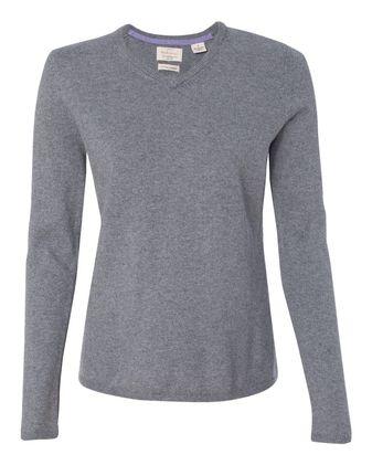 Weatherproof Vintage Women\'s Cotton Cashmere V-Neck Sweater W151363
