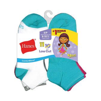 Hanes Comfort Blend EZ-Sort Girls Low Cut Socks 11-Pack G42/11